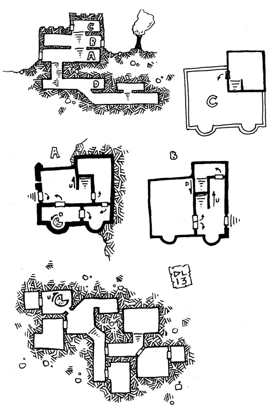 Small Fort & Dungeon from the Oak King (no grid)