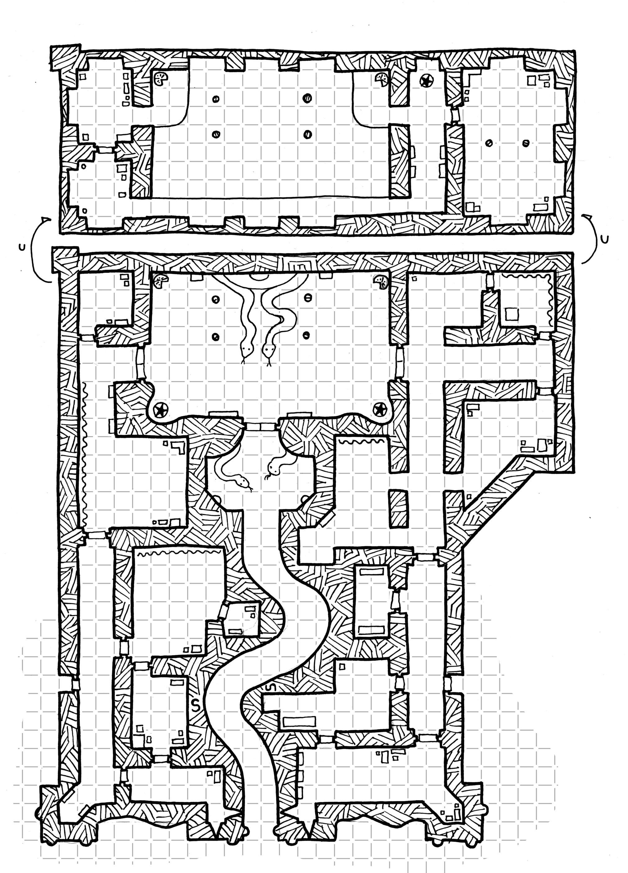 Friday Map Temple of the Snake Dysons Dodecahedron
