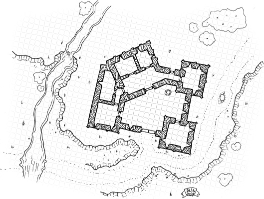 Roadside Fortress (with grid)