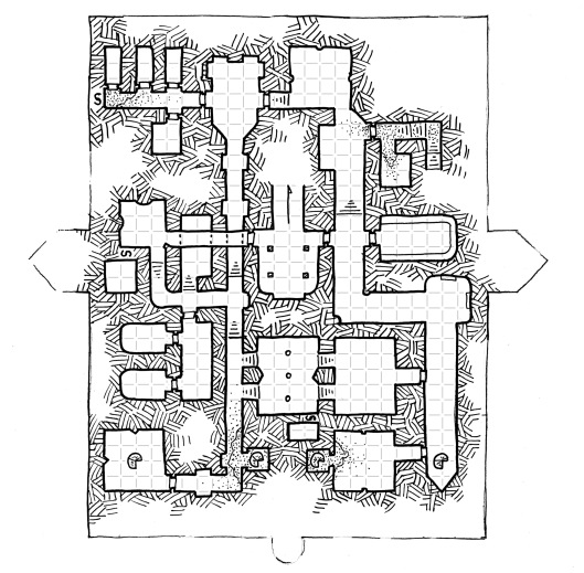 Ziggurat Interior - Lower Level - Grid