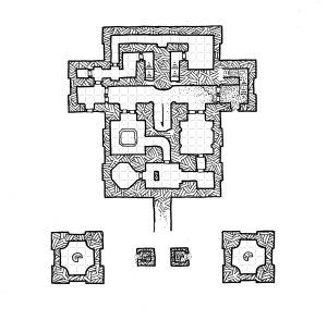 Ziggurat Interior - Middle Level - Grid