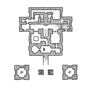Ziggurat Interior - Middle Level - Grid
