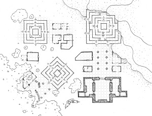 Ruined Pyramid Complex (with grid)