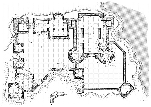 Griffinwatch Ruins - with grid