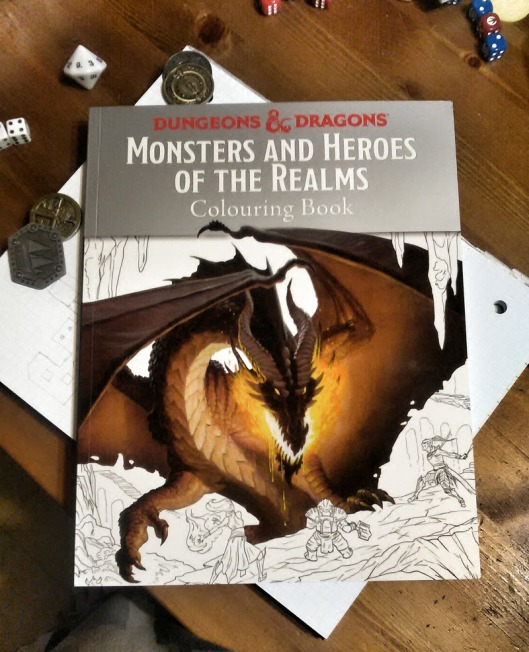 Dungeons & Dragons Colouring Book cover