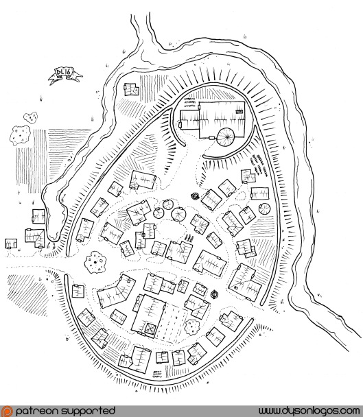 Vardisstvy - a Motte & Bailey castle & village