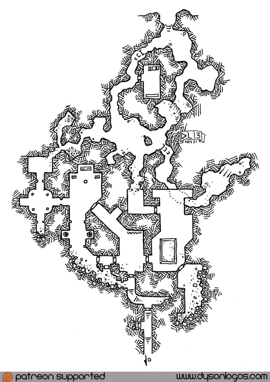 The Breached Fortress of Anoros (no grid)