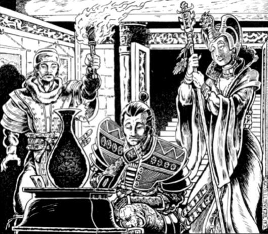 The Artisan's Tomb art by Richard Bennett (c) 1988 TSR