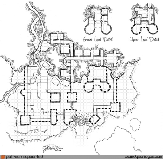 Aurelon's Keep (with grid)