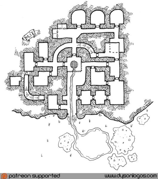 The Dungeons of Kal Odun (no grid)