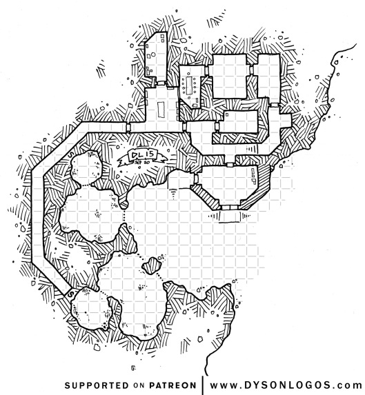Rhinoceros Containment Caves - with grid