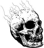 038 - Smoking Skull 150