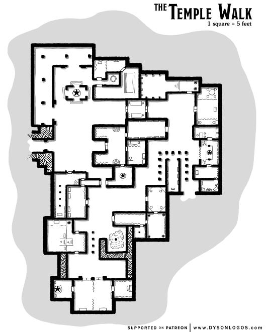 The Temple Walk - no grid