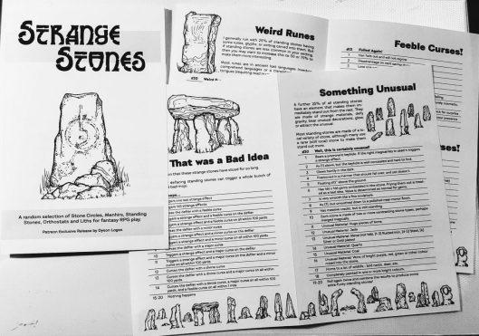 Strange Stones Booklet