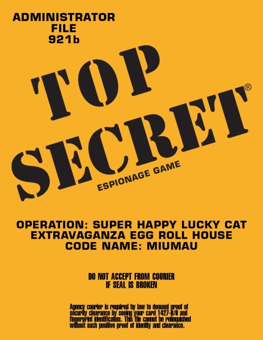 Operation: Super Happy Lucky Cat Extravaganza Egg Roll House