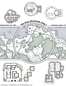 The Ency Glowlands Map 1