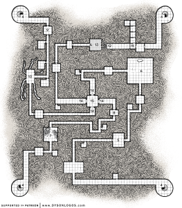 Ghost Tower of Inverness Dungeon Map - DM Version