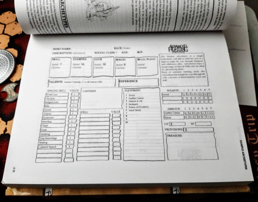 Advanced Fighting Fantasy Character Sheet