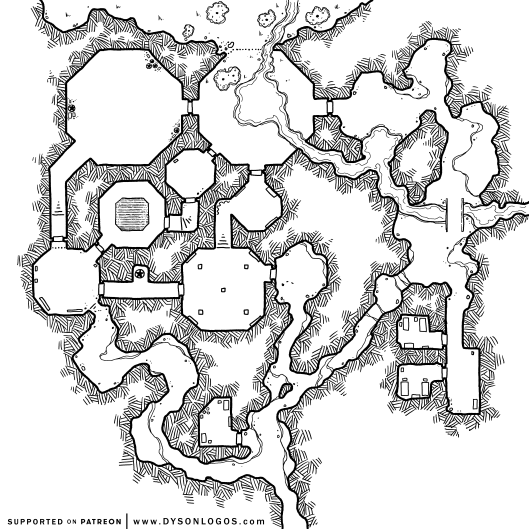 Dungeons of the Grand Illusionist (1200 dpi - no grid)