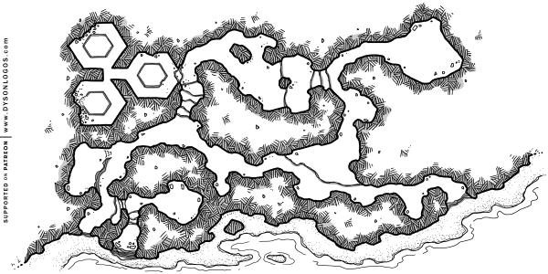 Beachside Caverns (1200 dpi - no grid)
