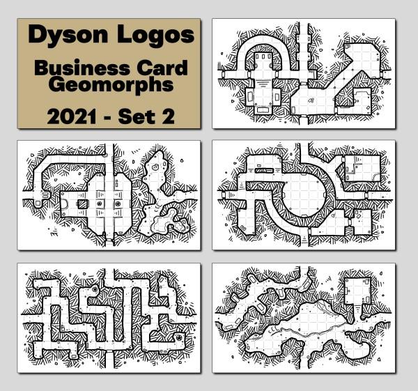 2021 Business Card Geomorphs - Set 2 Promotional